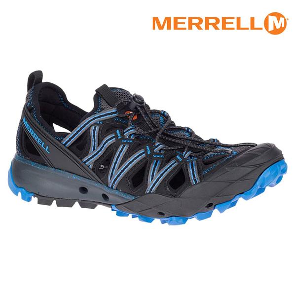 MERRELL 男 水陸兩棲運動鞋CHOPROCK SHANDAL ML50365【深灰-寶藍】 / 城市綠洲 (快乾、抗菌、黃金大底)