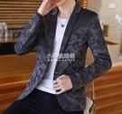 西裝外套 男士西裝修身韓版休閒西服外套2020秋季青年潮流個性小西裝 小宅妮