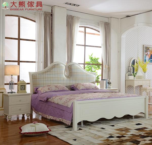 【大熊傢俱】QYA106 韓式床 雙人床 六尺床 床台 床架 鄉村田園風 公主床 歐式床 另售化妝台 衣櫃
