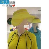 HOII正式授權 SunSoul 后益涼感 防曬 全面防護遮陽帽(黃)