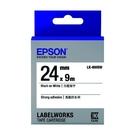 EPSON LK-6WBW C53S656407 高黏性系列白底黑字標籤帶 寬度24mm