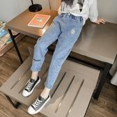 女童牛仔褲春秋新款韓版兒童外穿洋氣百搭小腳褲中大童褲子 快速出貨