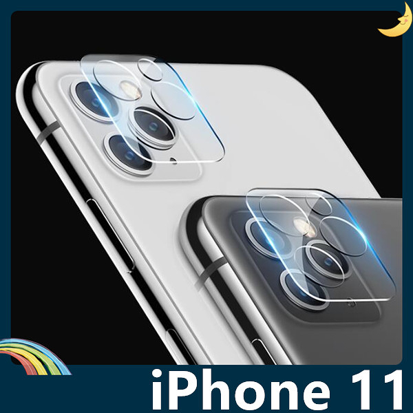 iPhone 11 Pro Max 滿版鏡頭鋼化玻璃膜 螢幕保護貼 9H硬度 0.2mm厚度 靜電吸附 高清HD 防爆防刮