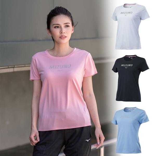 MIZUNO 女款短袖T恤 運動上衣 咖啡紗抗臭 防曬 抗紫外線 UPF30 32TA1201 21SS 【樂買網】