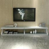 電視櫃現代簡約小戶型黑色白色鋼化玻璃客廳茶幾電視櫃組合     自由角落