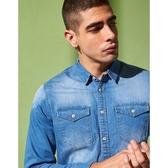 CACO-彈性牛仔襯衫(二色)-男【UAR013】