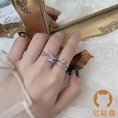 蝴蝶戒指女潮個性時尚創意復古個性開口食指環【宅貓醬】