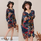春氛印花棉麻連身裙(5色)-F【慢。生活】
