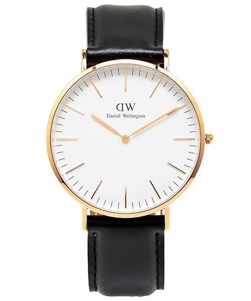 DW Daniel Wellington 經典York 手錶飾品(DW00100011)-白面x玫瑰金色殼/40mm