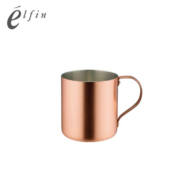【日本高桑elfin】純銅冰咖啡啤酒杯300ml-霧銅