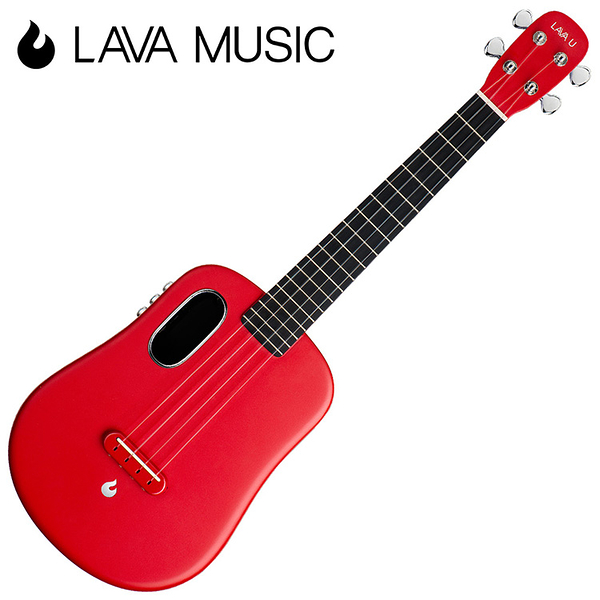 LAVA U 拿火烏克麗麗-26吋/L2 mini /Free Boost/碳纖維材質/插電加震款/紅色