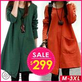 不規則寬鬆長袖連衣裙 S-3XL O-Ker歐珂兒 15867-C