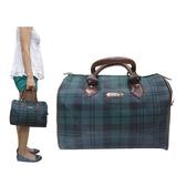 【南紡購物中心】手提波士頓包小容量手提進口防水防刮皮革+棉質內裡布材質隨身物品