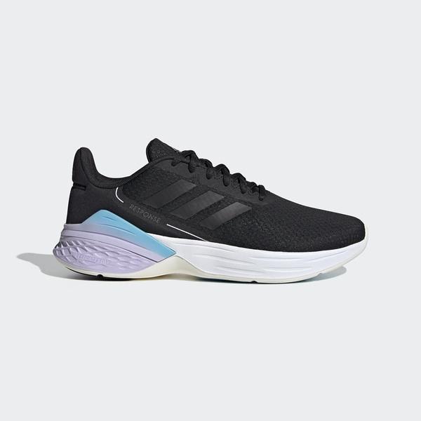 Adidas Response Sr [FX8914] 女鞋 運動 休閒 慢跑 透氣 舒適 支撐 避震 愛迪達 黑 紫
