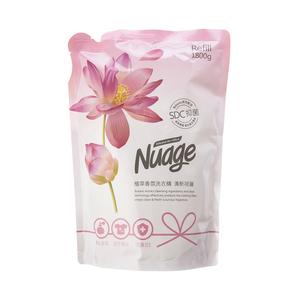 Nuage植萃抗菌香氛洗衣精補充包1800ml-清新荷蓮