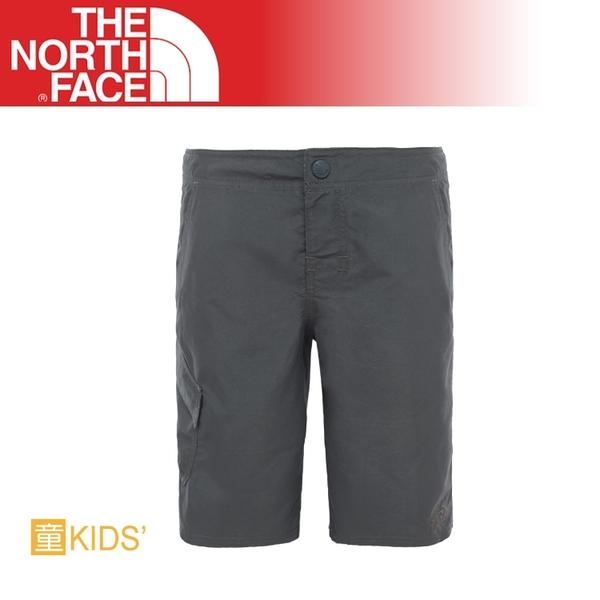 【The North Face 美國 男童 抗UV快乾短褲《 瀝灰》】CN68/休閒短褲/透氣/彈性