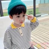 童裝男童長袖t恤純棉寶寶打底衫秋冬兒童polo衫上衣【聚可愛】