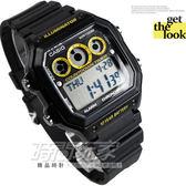 CASIO AE-1300WH-1A 電子錶 方型 卡西歐 定時器 鬧鈴 AE-1300WH-1A 碼錶 倒數計時 世界時間 45mm 男錶