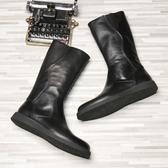 長靴 秋冬季高長筒蒙古馬靴男牛皮過膝儀仗演出靴皮質韓版潮流西藏裝。【快速出貨】