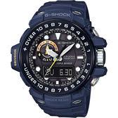 【CASIO】卡西歐 G-SHOCK MASTER 海軍蛙人太陽能電波手錶-藍 GWN-1000NV-2A / GWN-1000NV-2ADR