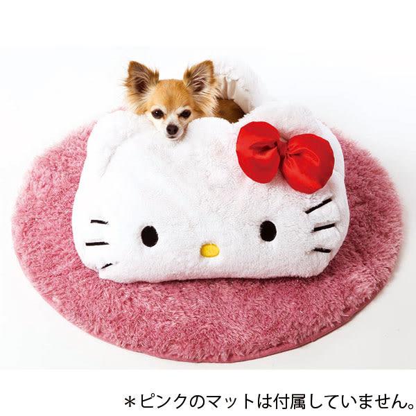 〔小禮堂〕 Hello Kitty 絨毛造型寵物床《白.大臉》 4560396-39589