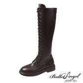 長靴 美式率性綁帶馬汀長筒靴(咖)*BalletAngel【18-2078co】【現+預】