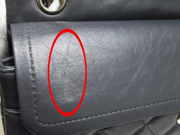 CHANEL 深大象灰色羊皮2.55方釦銀鍊手提肩背包 A37587 【BRAND OFF】