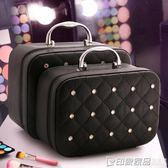 大容量網紅化妝包小號女韓國便攜簡約2019新款多功能層收納箱品 印象家品