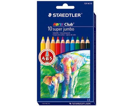 德國施德樓STAEDTLER超寬六角色鉛筆10色組*MS129NC10