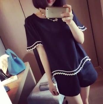 2017夏季時尚新款孕婦裝韓版寬鬆短袖簡約孕婦套裝