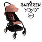 【現貨-第3代】法國 BABYZEN YOYO plus/YOYO+ 6m+嬰兒手推車(黑骨架) 粉色
