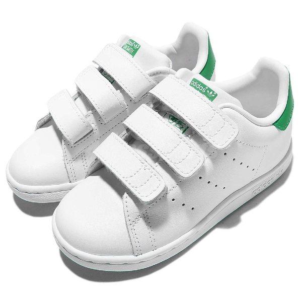 adidas Stan Smith CF I 白 綠 小朋友 童鞋 運動鞋【PUMP306】 M20609