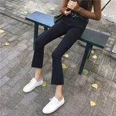 2018牛仔褲女九分褲高腰顯瘦正韓百搭微喇叭褲闊腿褲學生港風褲子