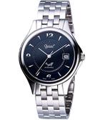 Ogival 愛其華 都會爵士自動上鍊機械腕錶-黑 829AM-128