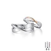 K'OR蔻兒 相信愛情鑽石/白鋼成對戒指