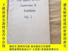 二手書博民逛書店11th罕見Quartz Devices Conference & Exhibition Vol.2Y2524