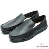 CUMAR 台灣製造 簡約大方真皮舒適便鞋-黑色