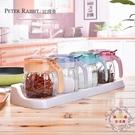 調味罐油壺玻璃調味瓶罐調料罐調料盒調味盒鹽罐廚房家用組合套裝