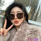 潮網美同款偏光墨鏡方形大框顯瘦防紫外線簡約太陽眼鏡女【公主日記】