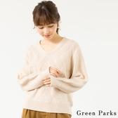 ❖ Hot item ❖ V領菱格圖案針織衫 - Green Parks