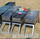 燒烤架 燒烤架戶外燒烤爐家用木炭小型燒烤架子野外燒烤工具燒烤架烤肉爐YYJ moon衣櫥
