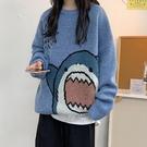 套頭毛衣女設計感秋裝卡通寬鬆秋冬外穿【少女顏究院】