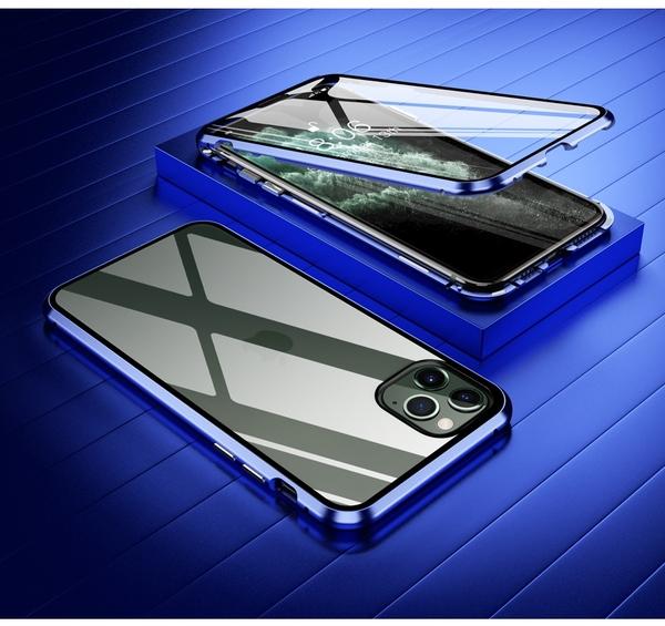 雙面萬磁王防摔iPhone12 Pro Max保護殼 金屬邊框蘋果12 Pro手機套 蘋果12 mini保護套日韓IPhone 12手機殼