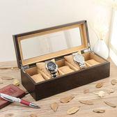木質手錶盒木制手錶盒手串盒首飾項鍊收納儲藏盒展示盒五表位【快速出貨】