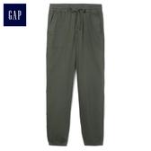 Gap女裝 休閒舒適大口袋束口褲 417893-橄欖綠
