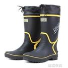 雨鞋男款春夏防水高筒橡膠雨鞋膠鞋膠靴防滑釣魚鞋長筒水鞋透氣 怦然新品