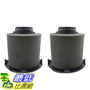 [106美國直購] 2 Dirt Devil F16 Filter Kits w/ HEPA Filter & Foam Pre-filter 1JW1100000, 2JW1000000