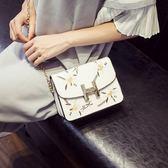 單肩包 鏈條繡花斜挎韓版時尚款 JA280 『寶貝兒童裝』