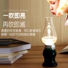 復古懷舊煤油LED燈 吹氣感應小夜燈 交換禮物 戶外照明燈 露營燈