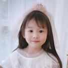 髮飾 兒童髪飾公主超仙蝴蝶結髪夾女孩紗紗頭箍飄帶女童頭花皇冠髪飾【快速出貨八折鉅惠】
